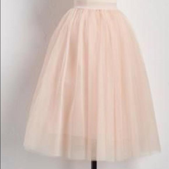 1f152eb15551 Esley Skirts | Versona Light Pink Tea Length Tulle Skirt | Poshmark
